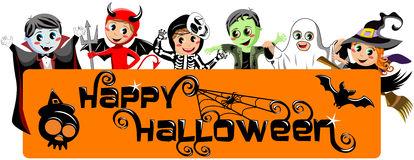 kids-costume-happy-halloween-banner